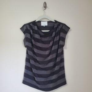 3.1 Phillip Lim Striped Cowl Neck Tee
